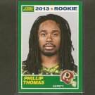 PHILLIP THOMAS 2013 Score Rookie Card - Redskins & Fresno State