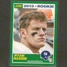 RYAN NASSIB 2013 Score Rookie Card - NY Giants & Syracuse Orange