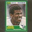 JUSTIN HUNTER 2013 Score Rookie Card - Titans & Tennessee Volunteers