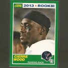 CIERRE WOOD 2013 Score Rookie Card - Texans & Notre Dame Fighting Irish