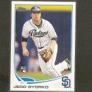 2013 Topps JEDD GYORKO Rookie Card RC - San Diego Padres