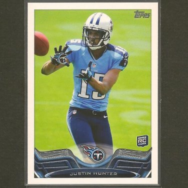 JUSTIN HUNTER 2013 Topps Rookie Card RC - Titans & Tennessee Volunteers
