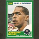 MARQUESS WILSON 2013 Score Rookie Card - Chicago Bears & Washington State Cougars