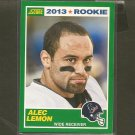 ALEC LEMON 2013 Score Rookie RC - Houston Texans & Syracuse Orangemen