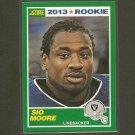 SIO MOORE 2013 Score Rookie Card - Oakland Raiders & UConn Huskies