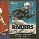 JURON CRINER 2012 Bowman Rookie RC - Raiders & Arizona Wildcats
