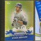 RYAN BRAUN 2013 Topps Spring Fever - Milwaukee Brewers