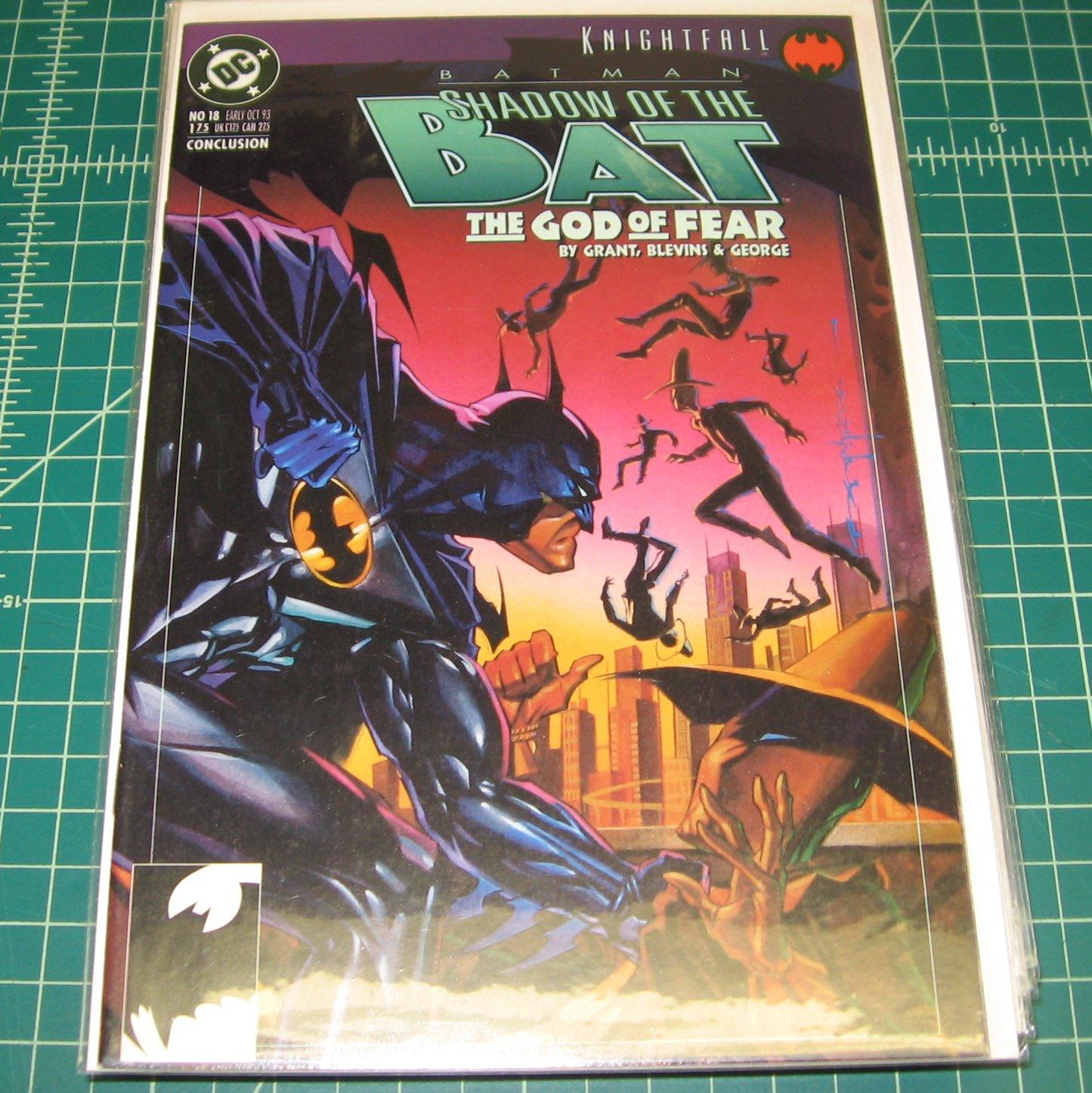 BATMAN Shadow of the Bat #18 - Alan Grant - DC Comics - The God of Fear - Knightfall
