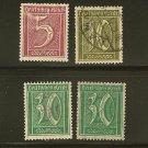 Germany Reich Postage Stamp Lot x13 - Scott # 137,138,141,200,203,204,205,206,281,284,285,286,
