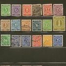 Germany Postage Stamp Lot x18 - A119 Scott #532,534-538,540,541-546,550,553-556