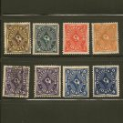 Germany Postage Stamp Lot x8- A30 Scott #186,188,189,189a,191,192,211