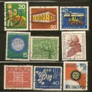 West Germany Europa Postage Stamp Lot x9