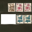 Germany Postage Stamp Lot x5 - A328 Scott #1075, 1079, 1080