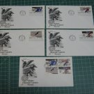 1980 US Postal Winter Olympics FDC Cachet Set of 5 - First Day Issue - Scott #1795,1796,1797,1798