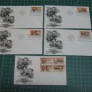 1983 US Postal Inventors FDC Cachet Set of 5 - First Day Issue - Scott #2055,2056,2057,2058
