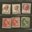 Australia King George VI & Queen Elizabeth Definitives Postage Stamp Lot x8