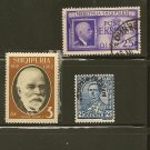 Albania Postage Stamp Lot x3 - Overprint