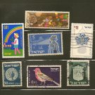 Israel Postage Stamp Lot x7