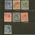 Netherlands Postage Stamp Lot x7 Bullseye Cancel - A23 Scott # 172,173,175,177180,183 + Indie