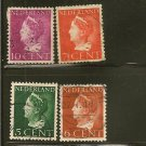 Netherlands Queen Wilhelmina Postage Stamp Lot x29 Bullseye Cancel - A40,A45,A72,A76,A82  Indie