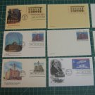 1987-1991 USPS Fleetwood,Anderson,Artcraft Stationery Postal Card FDC First Day of Issue Lot x9