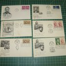 Abraham Lincoln USPS Aristocrats/Artmaster/Artcraft FDC First Day of Issue Lot x6