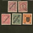 AUSTRIA Postage Stamp Lot x25 - Overprint, Great Cancels, Occupation