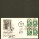 1960 USPS Artcraft FDC Scott #1156 Block of 4 -Seattle, WA - Forestry -First Day of Issue/Cover