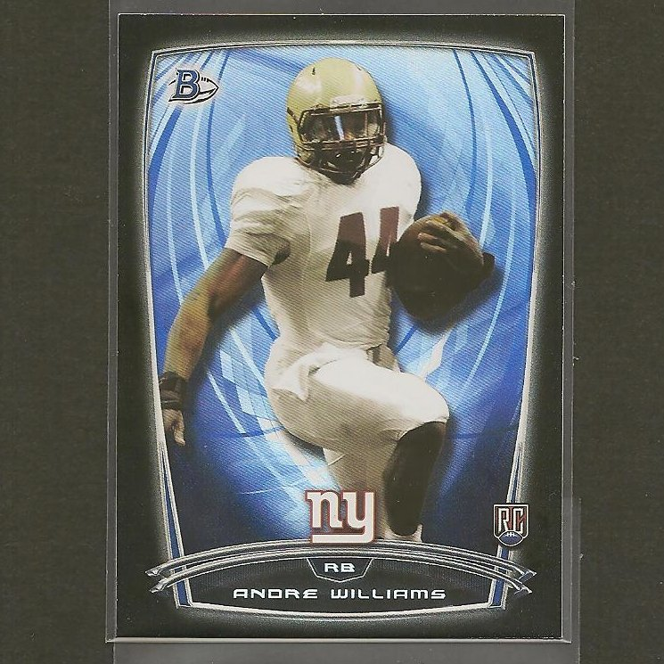 ANDRE WILLIAMS 2014 Bowman Rookie Black RC - BC Eagles & NY Giants