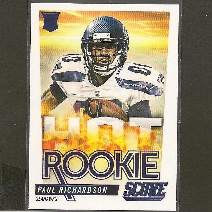 PAUL RICHARDSON 2014 Score Hot Rookie RC - Colorado Buffaloes & Seahawks