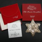 1992 TOWLE Annual Sterling Silver Snowflake Christmas Ornament
