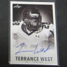 TERRANCE WEST 2014 Leaf Originals Rookie Autograph RC - Titans & Towson Tigers