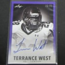 TERRANCE WEST 2014 Leaf Originals Rookie Autograph RC #22/50 - Titans & Towson Tigers