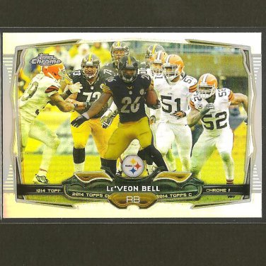 Le'VEON BELL 2014 Topps Chrome Refractor - Steelers & Michigan State Spartans