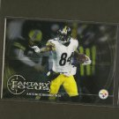 ANTONIO BROWN 2014 Topps Chrome Fantasy Focus - Steelers & Central Michigan