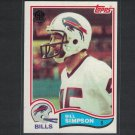 1982 BILL SIMPSON 2015 Topps 60th Anniversary BUYBACK Black Stamp - Buffalo Bills