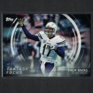 PHILIP RIVERS 2015 Topps Fantasy Focus NC State Wolfpack & Chargers