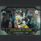Le'VEON BELL 2015 Topps All-Time Fantasy Legends Steelers & Michigan State Spartans