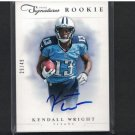 KENDALL WRIGHT 2012 Panini Prime Signatures #29/49 - Autograph Relic RC - Titans & Baylor Bears