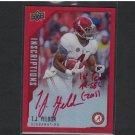 TJ T.J. YELDON - 2015 Upper Deck Inscriptions Autograph Rookie RED #/75 Jaguars & Alabama