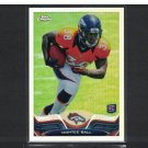 MONTEE BALL 2013 Topps Chrome Refractor Rookie Card RC - Denver Broncos & Wisconsin Badgers