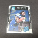 ALEX COLLINS 2016 Donruss Optic Rated Rookie RC - Razorbacks & Ravens