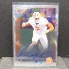 VIC BEASLEY 2015 UD Inscriptions Autograph Rookie Card - Clemson & Atlanta Falcons