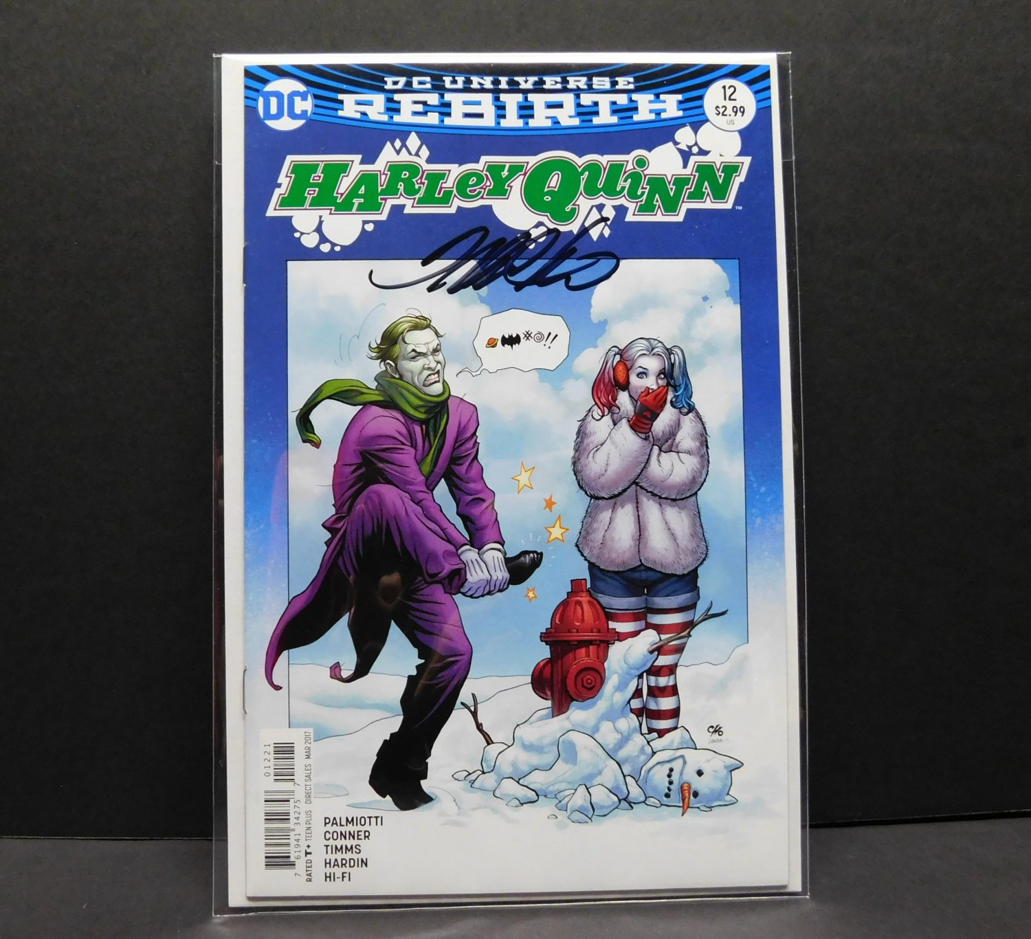 HARLEY QUINN #12b NM - DC Comics Rebirth - Variant Signed by Frank Cho