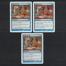 TRADE ROUTES x3 - Blue Magic the Gathering - MtG 8th & 9th Edition Playset - Rare Never Played