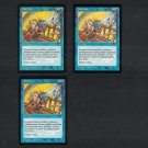 INTERDICT x3 - Blue Magic the Gathering - MtG Tempest Playset - Uncommon