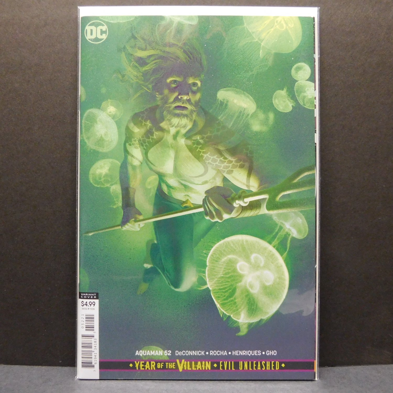 AQUAMAN #52 - DC Comics 2016 - Joshua Middleton Year of the Villain Variant Cover B