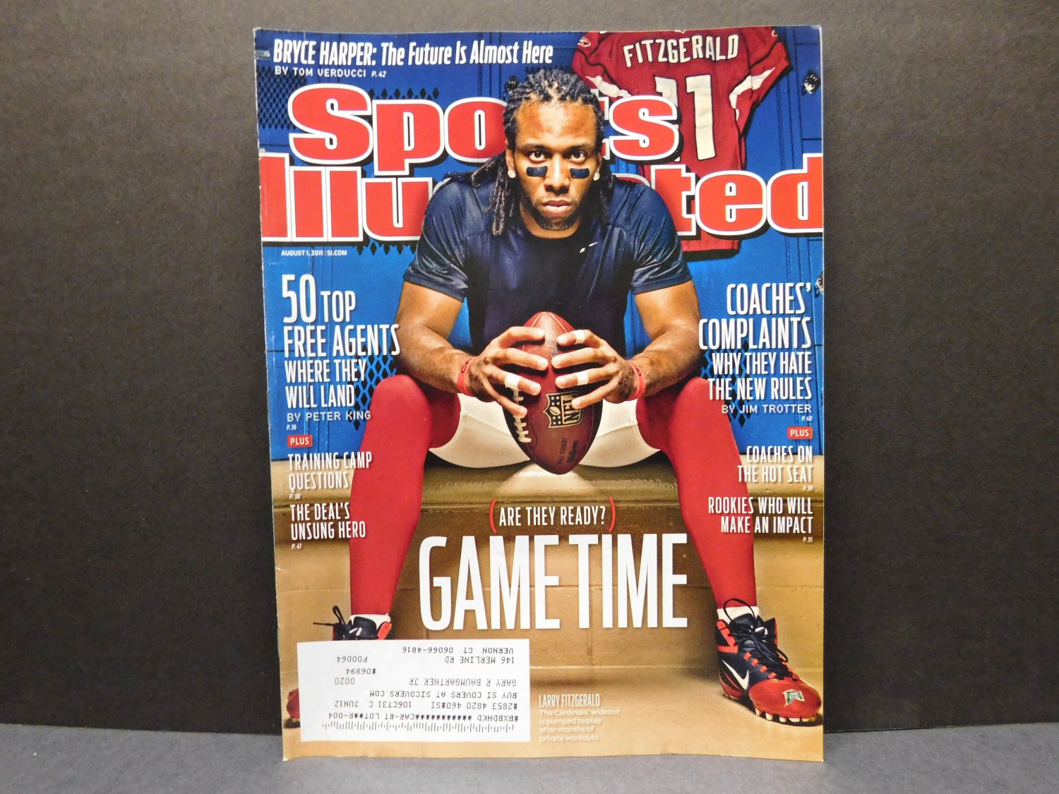 2011 Sports Illustrated - First LARRY FITZGERALD Cover - Arizona Cardinals