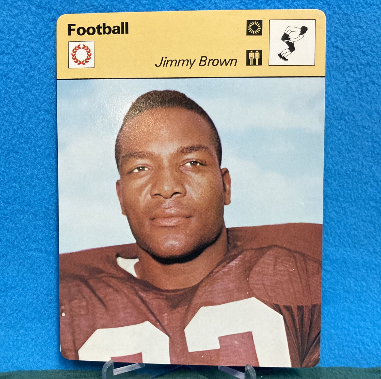 1977 1978 1979 FOOTBALL Jim Brown Sportscaster Card 6-18 (Japan) - Browns