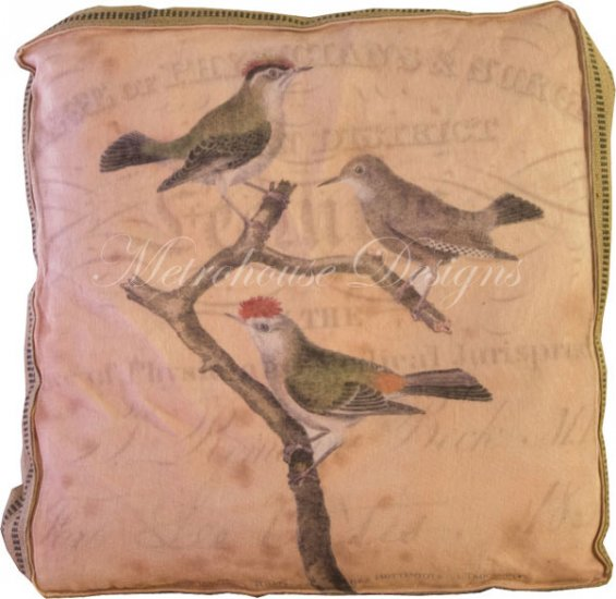 Perched Accent Box Pillow